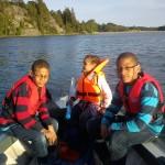 båtur med Emanuel,Samuel och Robyn